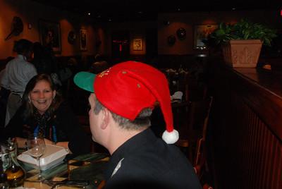 Charlene gives Santa her wish list.