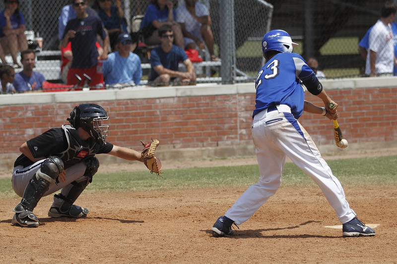 Note the compression of the ball on the bat.
