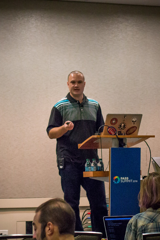 Brian Carrig presenting on Formating Dynamic SQL