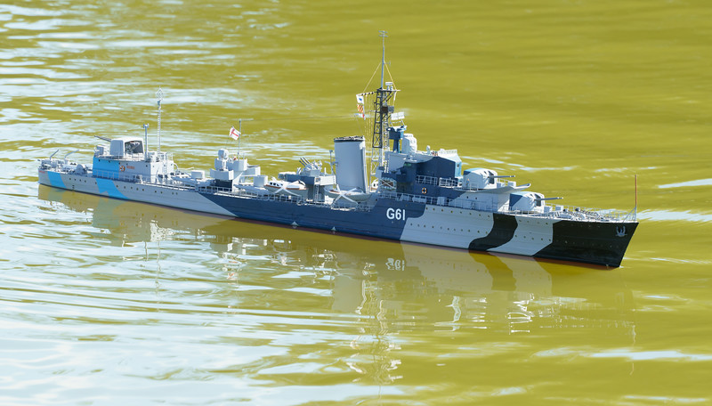 David McNair-Taylor, HMS Javelin, J-class destroyer, SRCMBC, Solent Radio Control Model Boat Club