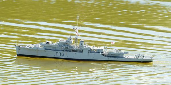Black Swan Class sloop, F116, HMS Amethyst, John Edwards, SRCMBC, Solent Radio Control Model Boat Club, lFrigate