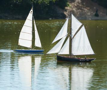 Gaff-rigged pilot cutter, John Geall, Jolie Brise, SRCMBC, Solent Radio Control Model Boat Club
