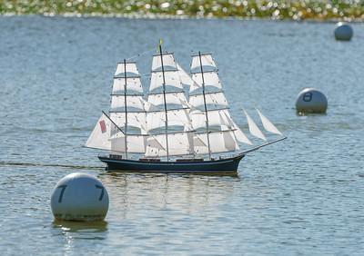 Clipper, Margaret, Reg Radley, SRCMBC, Solent Radio Control Model Boat Club, Square-Rigger