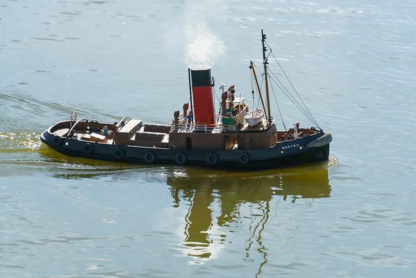 Martra, Roger Cooper, SRCMBC, Solent Radio Control Model Boat Club, harbour Steam Tug