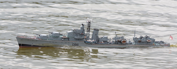 Battle Class Destroyer, D86, David McNair-Taylor, HMS Agincourt, SRCMBC, Solent Radio Control Model Boat Club