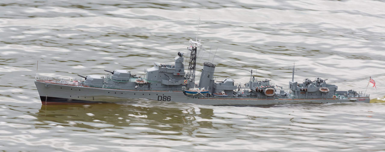 Battle Class Destroyer, D86, David McNair-Taylor, HMS Agincourt, SRCMBC, Solent Radio Control Model Boat Club