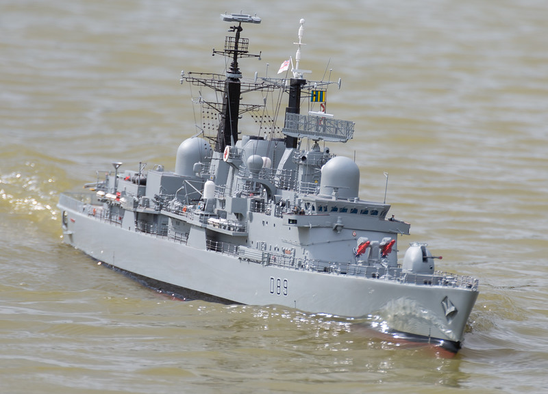 D89, David McNair-Taylor, HMS Exeter, SRCMBC, Solent Radio Control Model Boat Club, Type 42 Destroyer