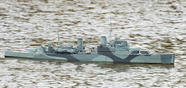 Crown Colony-class light cruiser, David Reith, HMS Mauritius, SRCMBC, Setley Pond, Solent Radio Control Model Boat Club, Supermarine Walrus