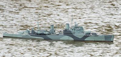 Crown Colony-class light cruiser, David Reith, HMS Mauritius, SRCMBC, Setley Pond, Solent Radio Control Model Boat Club, Supermarine Walrus