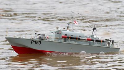 Lorna and Andrew Soffe, MTB P150, Perkasa, SRCMBC, Solent Radio Control Model Boat Club