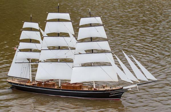 David Edwards, SRCMBC, Salamis, Solent Radio Control Model Boat Club, Square-Riggers, Tea/wool Clipper