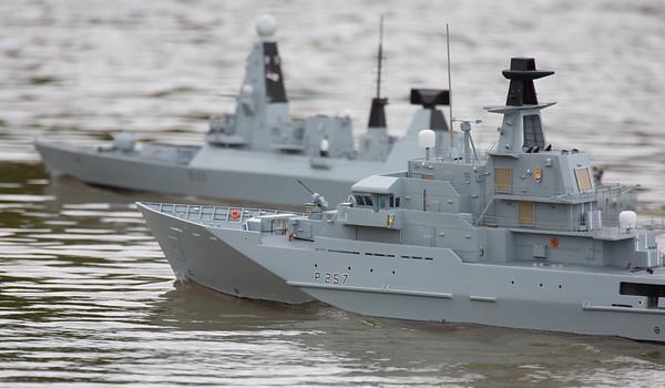David Reith, Faulklands Patrol Vessel, HMS Clyde, P257, Rivers Class patrol vessel, SRCMBC, Solent Radio Control Model Boat Club