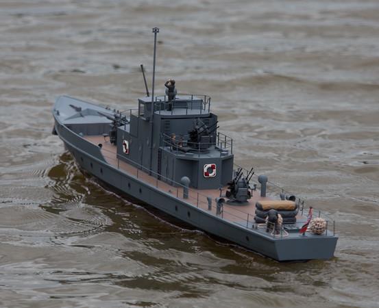 German Flak boat, Hans-Ulrich Kuhn, Krischan der Grosse, Military Launche, SRCMBC, Solent Radio Control Model Boat Club
