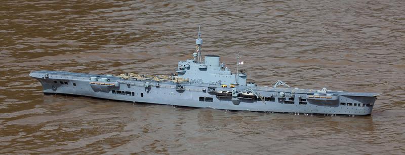 Archie Howie, HMS Illustrious, SRCMBC, Solent Radio Control Model Boat Club, World War 2 Aircraft Carrier