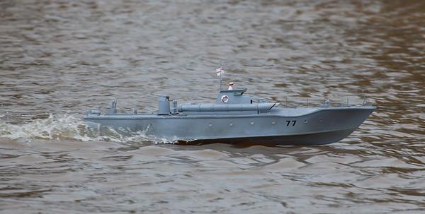 MTB 77, Motor torpedo Boat, Ray Hellicar, SRCMBC, Solent Radio Control Model Boat Club
