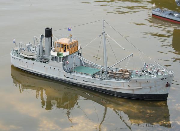 Admiralty Coaster, C642, Navy Day 2017, SRCMBC, Setley Pond, Solent Radio Control Model Boat Club