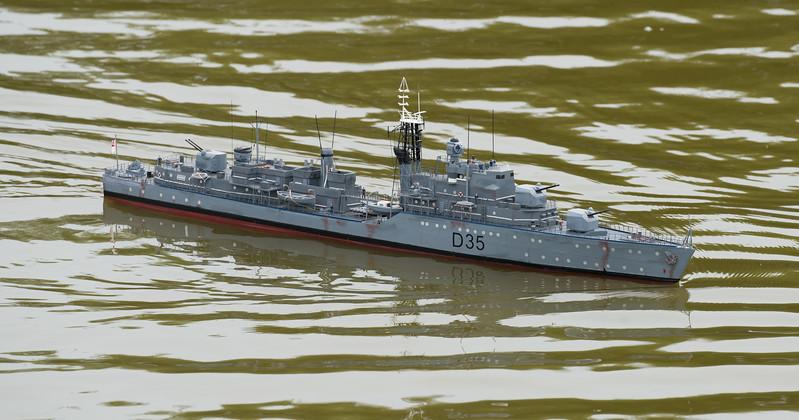 D35, Daring-class, HMS Diamond, Navy Day 2017, SRCMBC, Setley Pond, Solent Radio Control Model Boat Club, destroyer