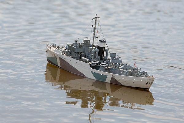 Flower Class corvette, HMCS Snowberry, Ray Hellicar, SRCMBC, Setley Pond, Solent Radio Control Model Boat Club