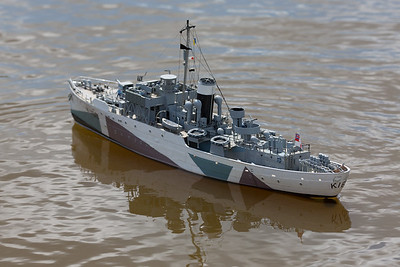 Flower Class corvette, HMCS Snowberry, Ray Hellicar, SRCMBC, Setley Pond, Solent Radio Control Model Boat Club