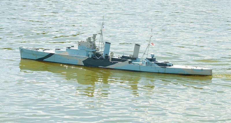 SRCMBC, Setley Pond, Solent Radio Control Model Boat Club, Warship-3