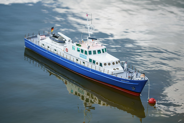 David Hardy, German Police Launch, Helgoland, SRCMBC, Setley Pond, Solent Radio Control Model Boat Club