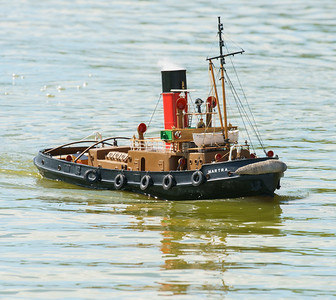 Martra, Roger Cooper, SRCMBC, Setley Pond, Solent Radio Control Model Boat Club, harbour Steam Tug