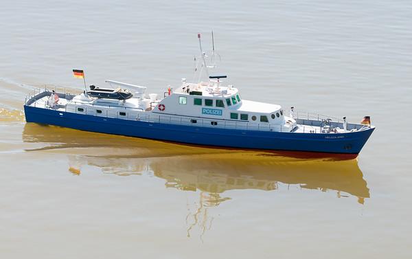 David Hardy, German Police Launch, Helgoland, SRCMBC, Solent Radio Control Model Boat Club