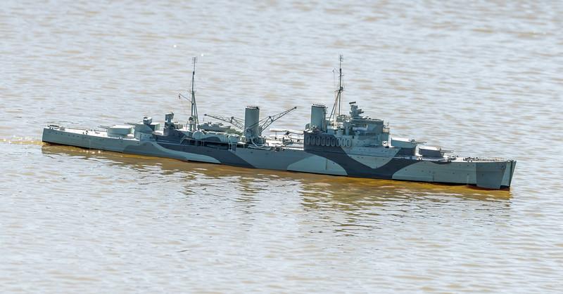 Crown Colony-class light cruiser, David Reith, HMS Mauritius, SRCMBC, Solent Radio Control Model Boat Club, Supermarine Walrus