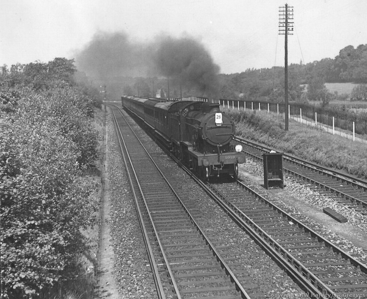 1019 (Maunsell rebuild) E1 Class Down Sunday League Excursion to Ramsgate St Marys Cray Jct June 1935