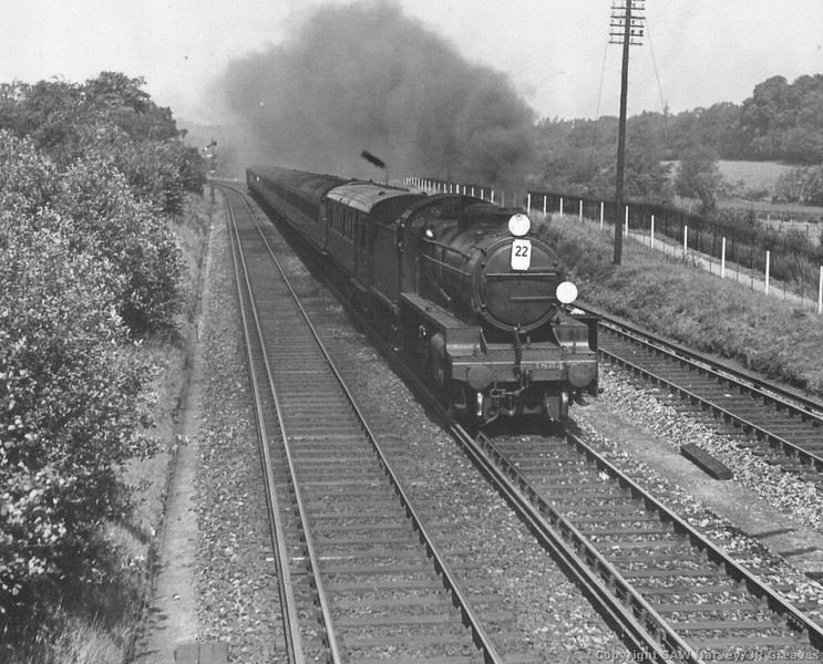 1864 Maunsell N Class ramblers excursion St Marys Cray Jct June 1935