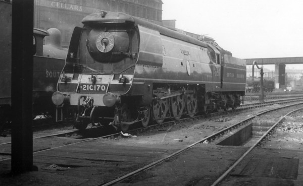 21C170 Manston (later 34070, last Light Pacific built by the Southern Railway) Stewarts Lane