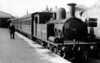 182 running as S182 at Plymouth Friary October 1948 Adams O2 class 0-4-4T