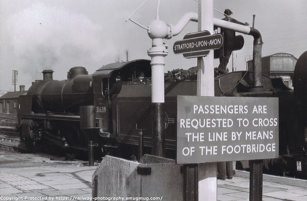31639 Stratford upon Avon Home Counties Railway Society's Six Counties railtour 7-3-1965