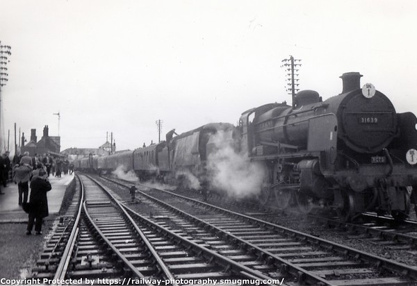 31639+34015 Exmouth RCTS Somerset+Dorset tour 2-1-1966 (2)