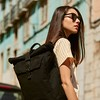 Fulham;Novello;Roll Top Backpack;15'';159-402-BLK;On The Model