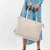 "Mayfair; Luxe; Maddox; Leather Tote; 15""; 120-204-CCT;On the model"