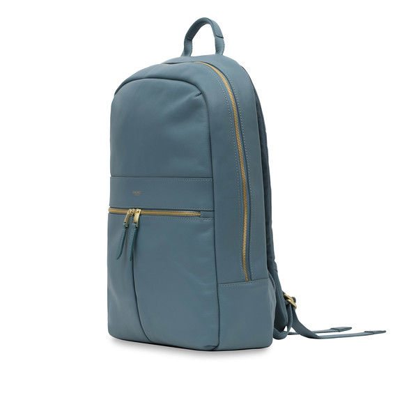 "Mayfair; Luxe; Beaux; Leather Backpack; 14""; 120-401-STB;Three Quarter"