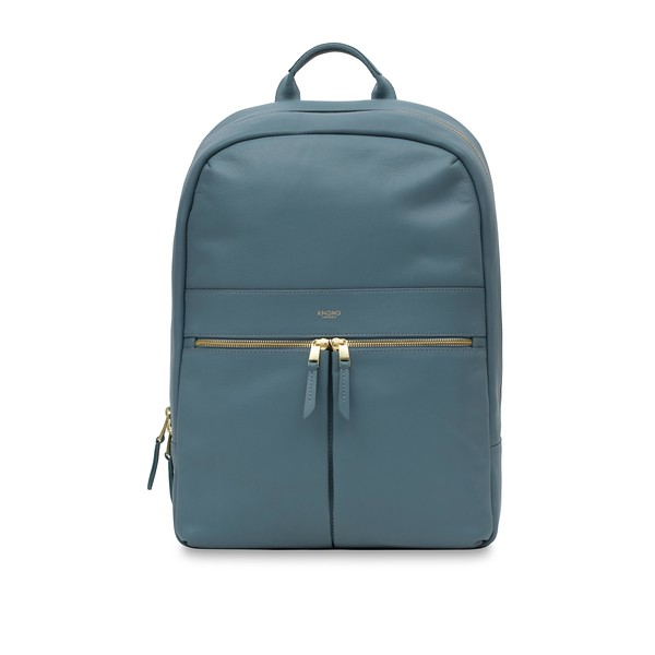 """Mayfair; Luxe; Beaux; Leather Backpack; 14""""; 120-401-STB;Front"""