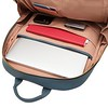 "Mayfair; Luxe; Beaux; Leather Backpack; 14""; 120-401-STB;Internal Tech Pockets Filled"