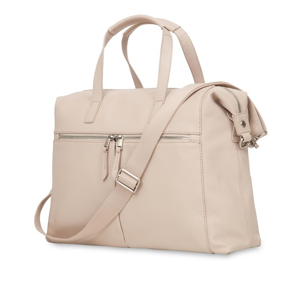 "Mayfair; Luxe; Audley; Leather Handbag; 14""; 120-101-CCT;Three Quarter with Strap"