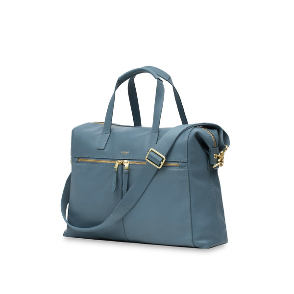 """Mayfair; Luxe ;Audley; Leather Handbag; 14""""; 120-101-STB ;Three Quarter"""