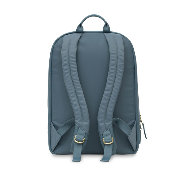 """Mayfair; Luxe; Beaux; Leather Backpack; 14""""; 120-401-STB;Back"""