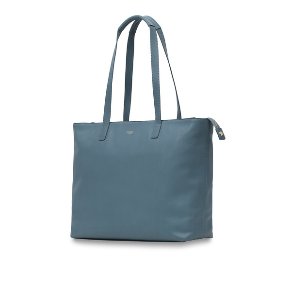 "Mayfair; Luxe; Maddox; Leather Tote; 15""; 120-204-STB;Three Quarter"