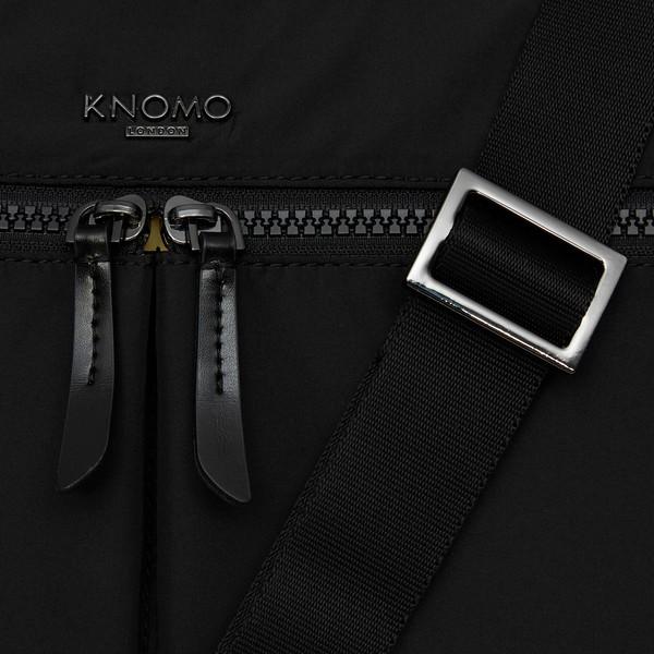 Dalston; Copenhagen; Briefcase; Black; 129-101-BLK2; front strap detail; 1MB