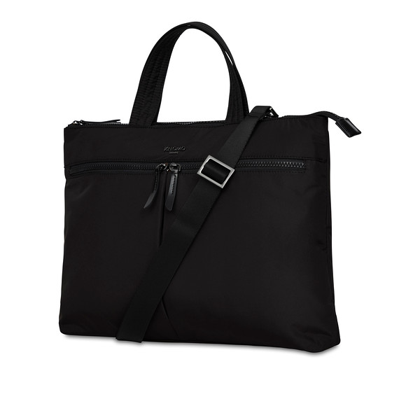 Dalston; Copenhagen; Briefcase; Black; 129-101-BLK2; 3 Quarter with strap; 1MB
