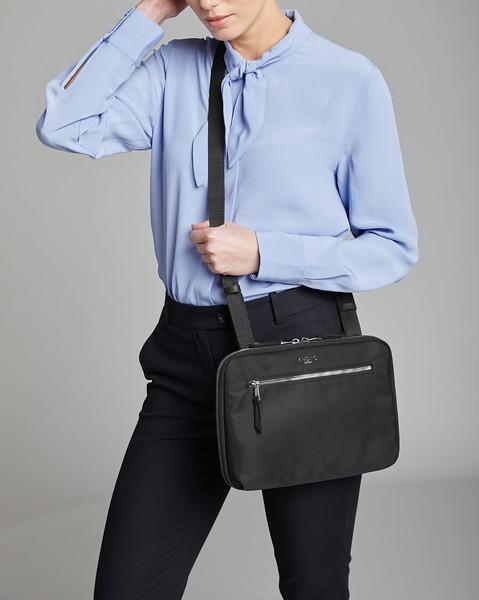"""Mayfair, Knomad Organiser, 10.5"""", Tech Organiser for Everyday, X-Body, Black, 119-070-BSN, Female Model"""