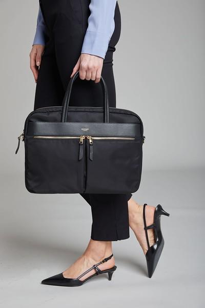 Mayfair, Hanover, Black with gold zips, 119-101-BLK2, Female Model
