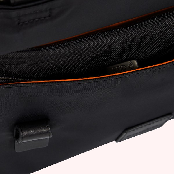 Fulham, Tournay, black, 160-202-BLK,  close up front pocket, 1MB