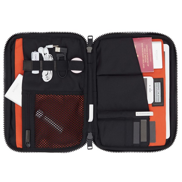 """Fulham, Knomad Organiser 10.5"""", X-Body, Black, 160-068-BLK, Internal With Items, 1MB"""