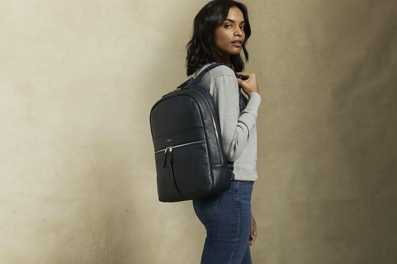 Mayfair Luxe, Beauchamp L, Leather, Dark Navy Blazer, 120-401-BLZ, Lifestyle